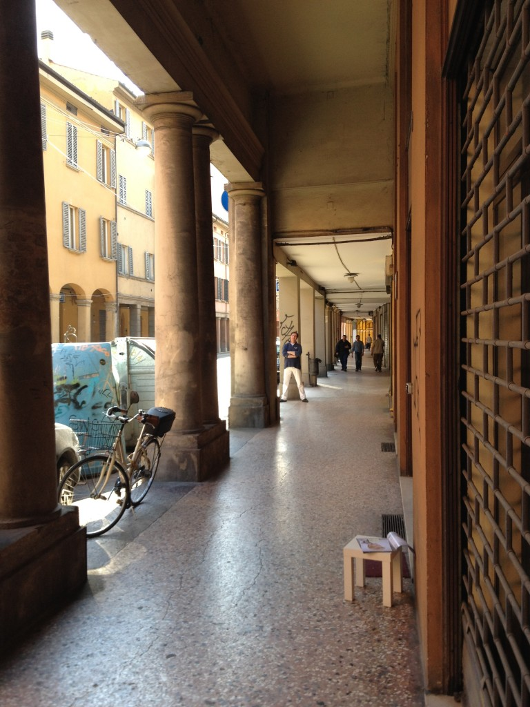 quiet porticos Bologna