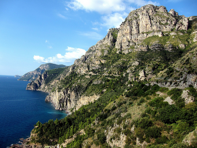Amalfi coast road European Road Trip