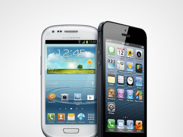iphone and samsung galaxy