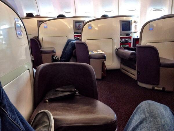 virgin upper class seat view