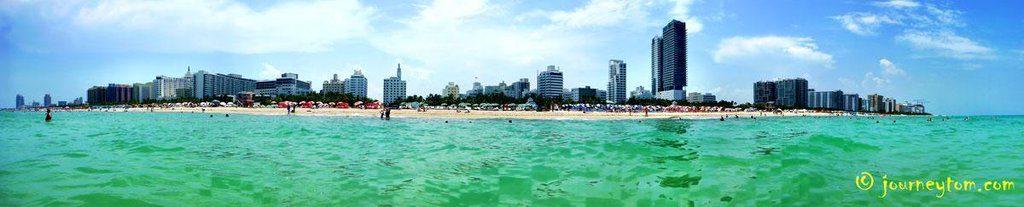 miami beach from the sea